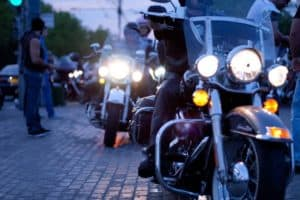 motorcycle group riding