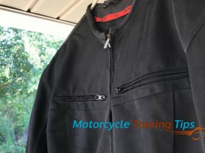 how to clean a textile motorcycle jacket