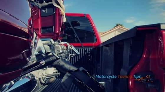 how to transport a motorcycle in a pickup