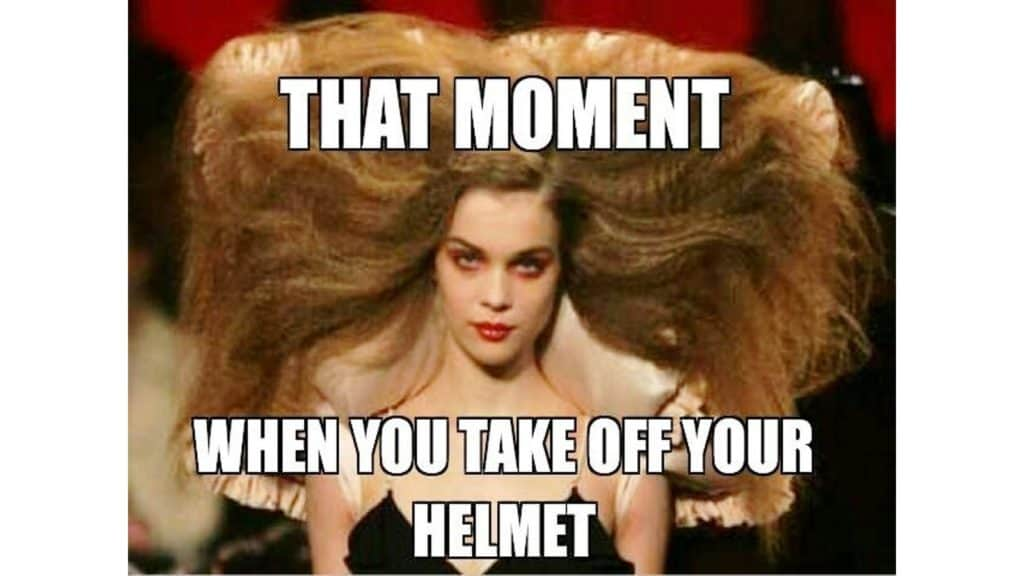helmet hair meme