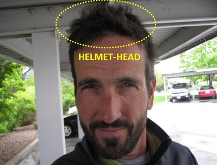 motorcycle helmet hair