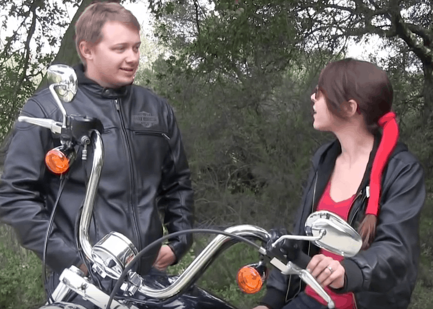 how to wear your hair on a motorcycle