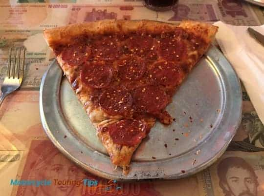 pizza slice from satchels pizza gainesville florida