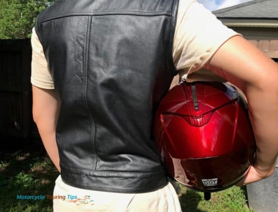 back of viking leather motorcycle vest