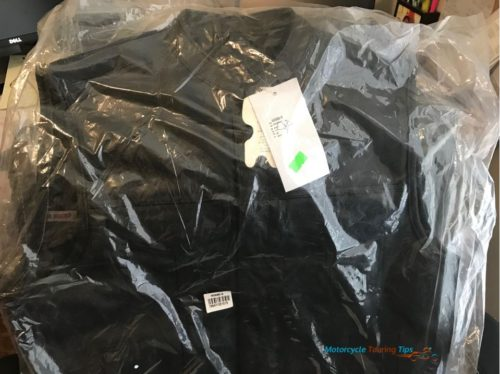 viking cycle leather motorcycle vest in packaging