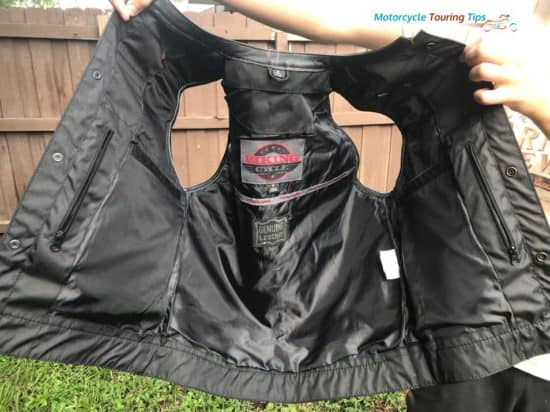 viking leather motorcycle vest open